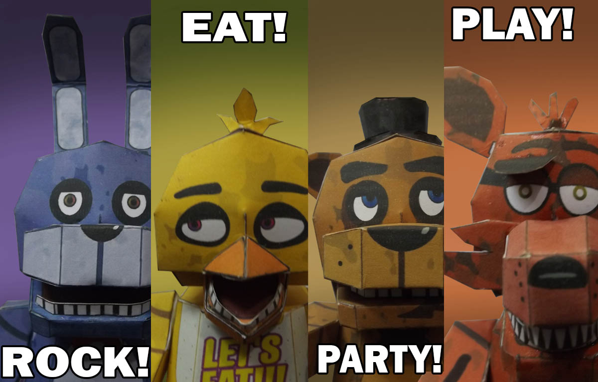 FNAF Rock! Eat! Party! Play! papercraft by Adogopaper on DeviantArt