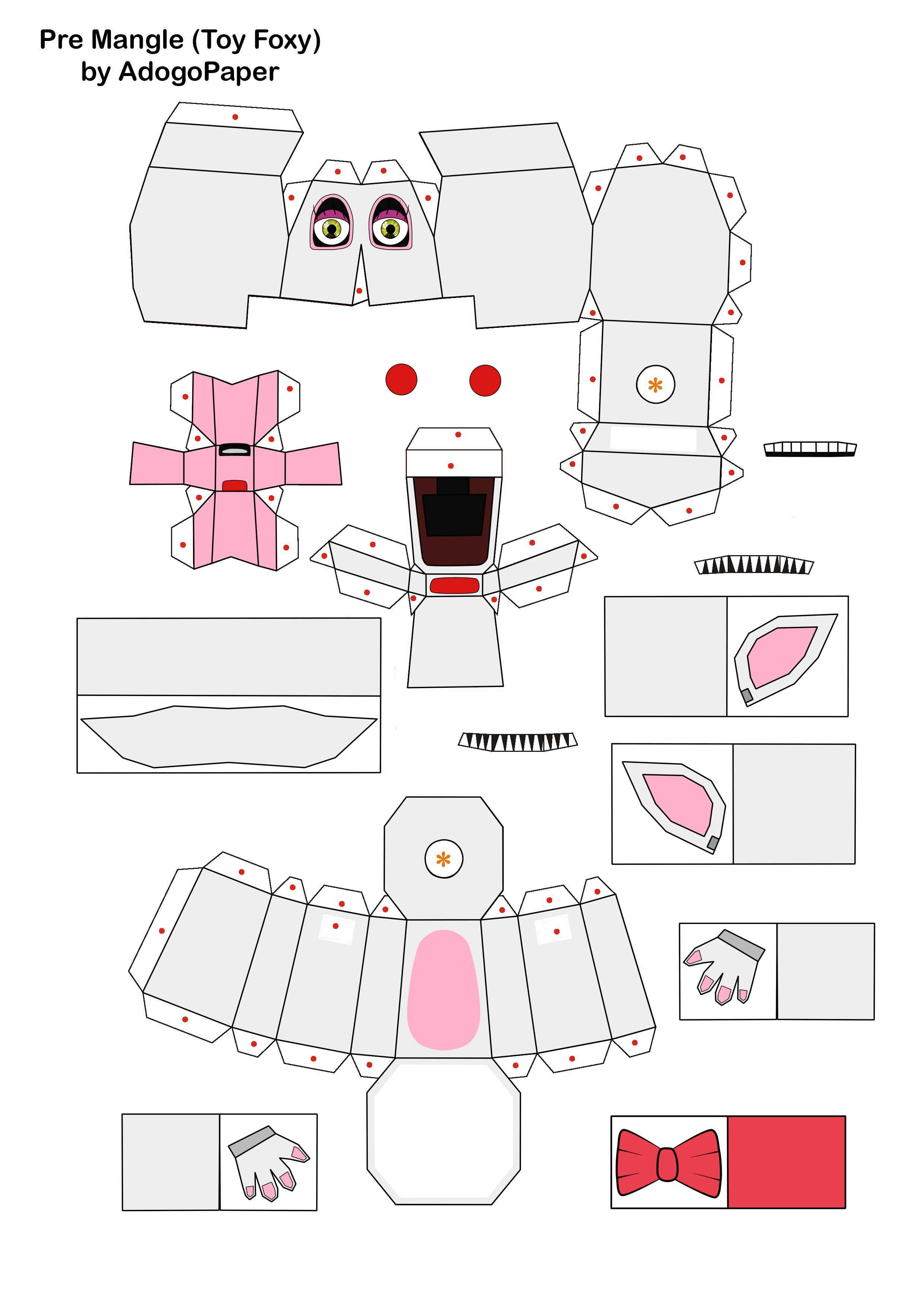 five nights at freddy's 2 pre-mangle papercraft P1 by Adogopaper on ...