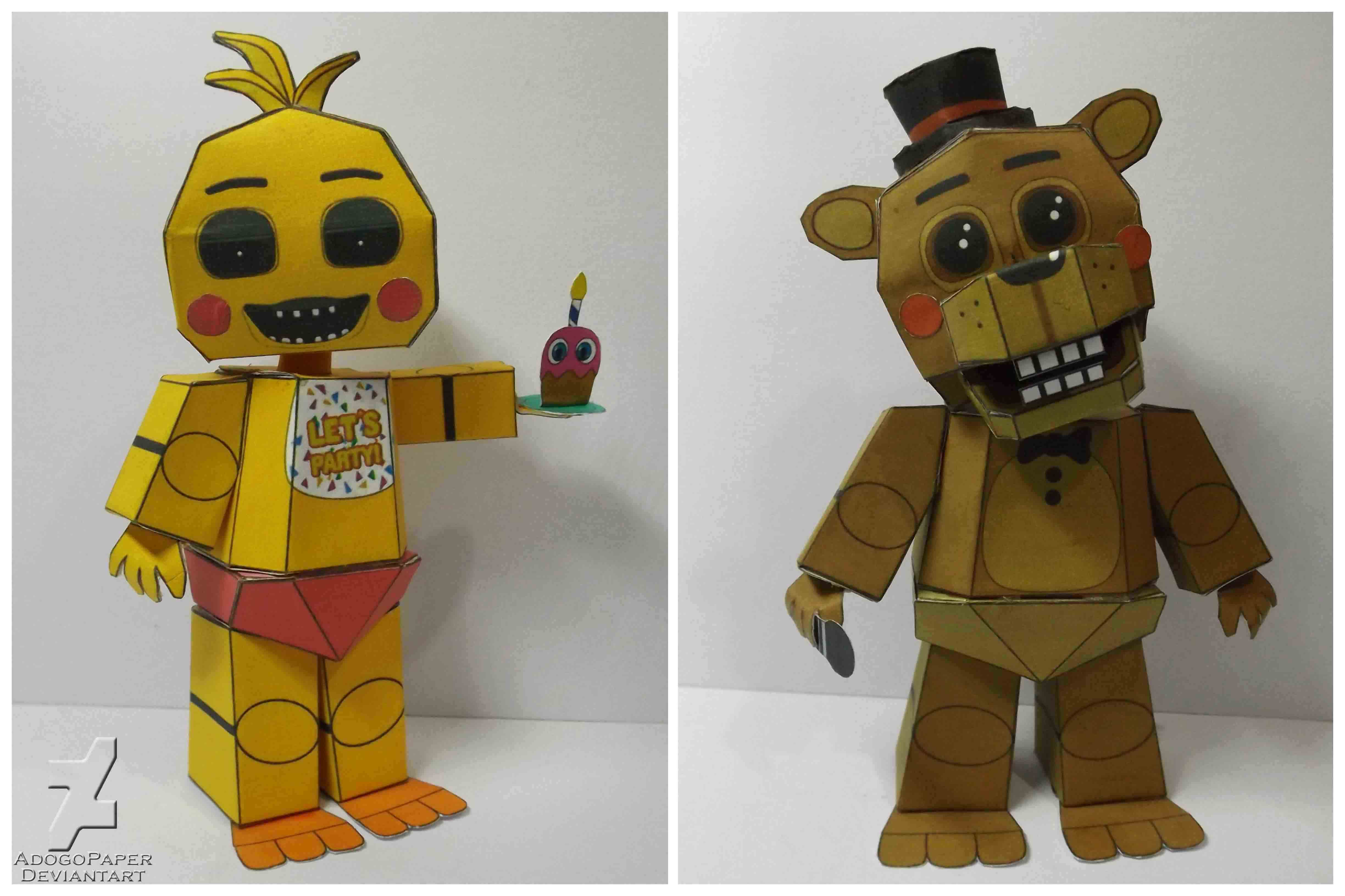 Fnaf 2 toy chica and toy freddy night mode by adogopaper on deviantart