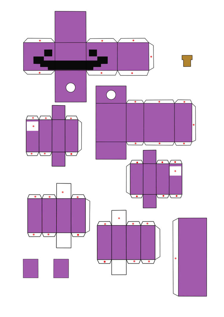 Как сделать из бумаги фредди майнкрафт