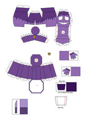 five nights at freddy's 2 purple guy papercraft p1