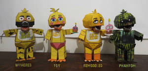 five nights at freddy's Chica TimeLine Papercraft