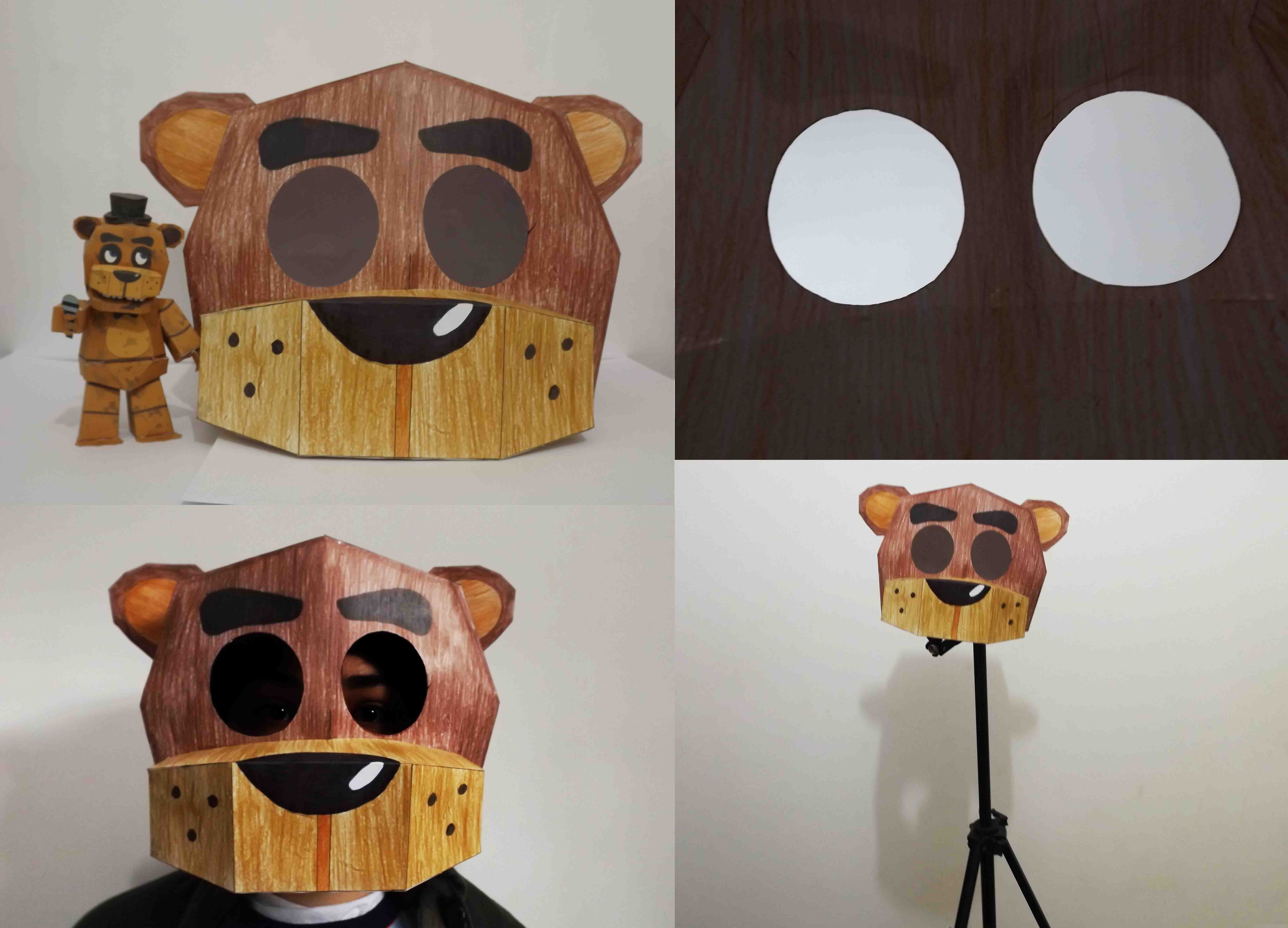 five nights at freddy's Freddy Mask Papercraft by Adogopaper