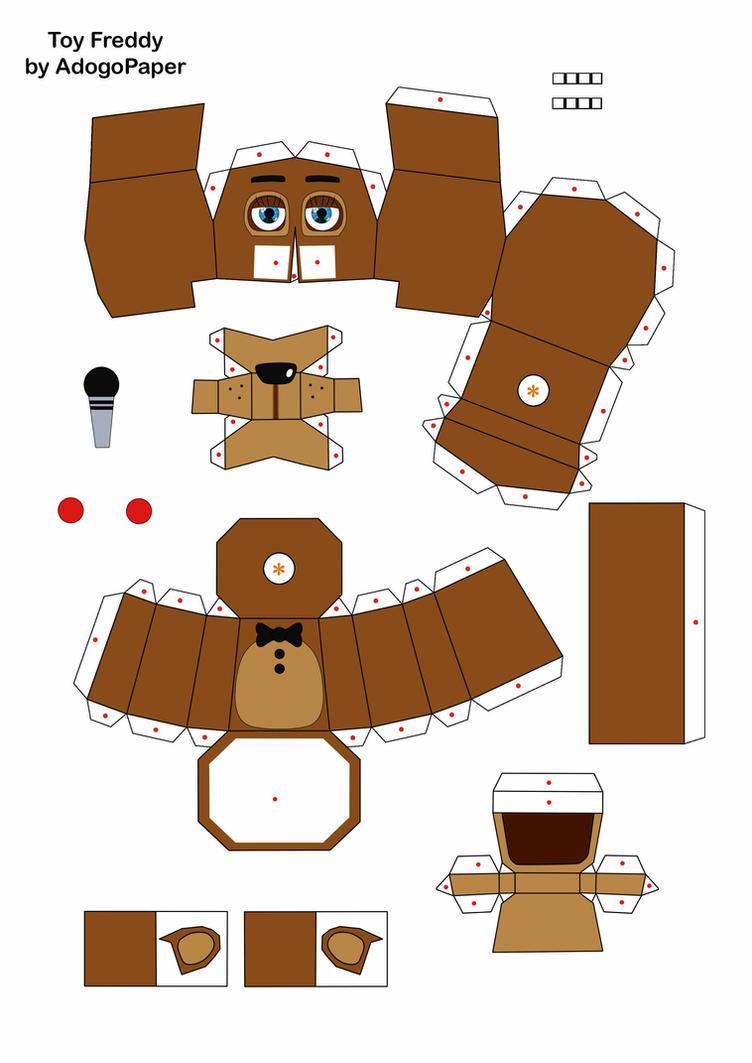 Распечатать схему медведя из бумаги