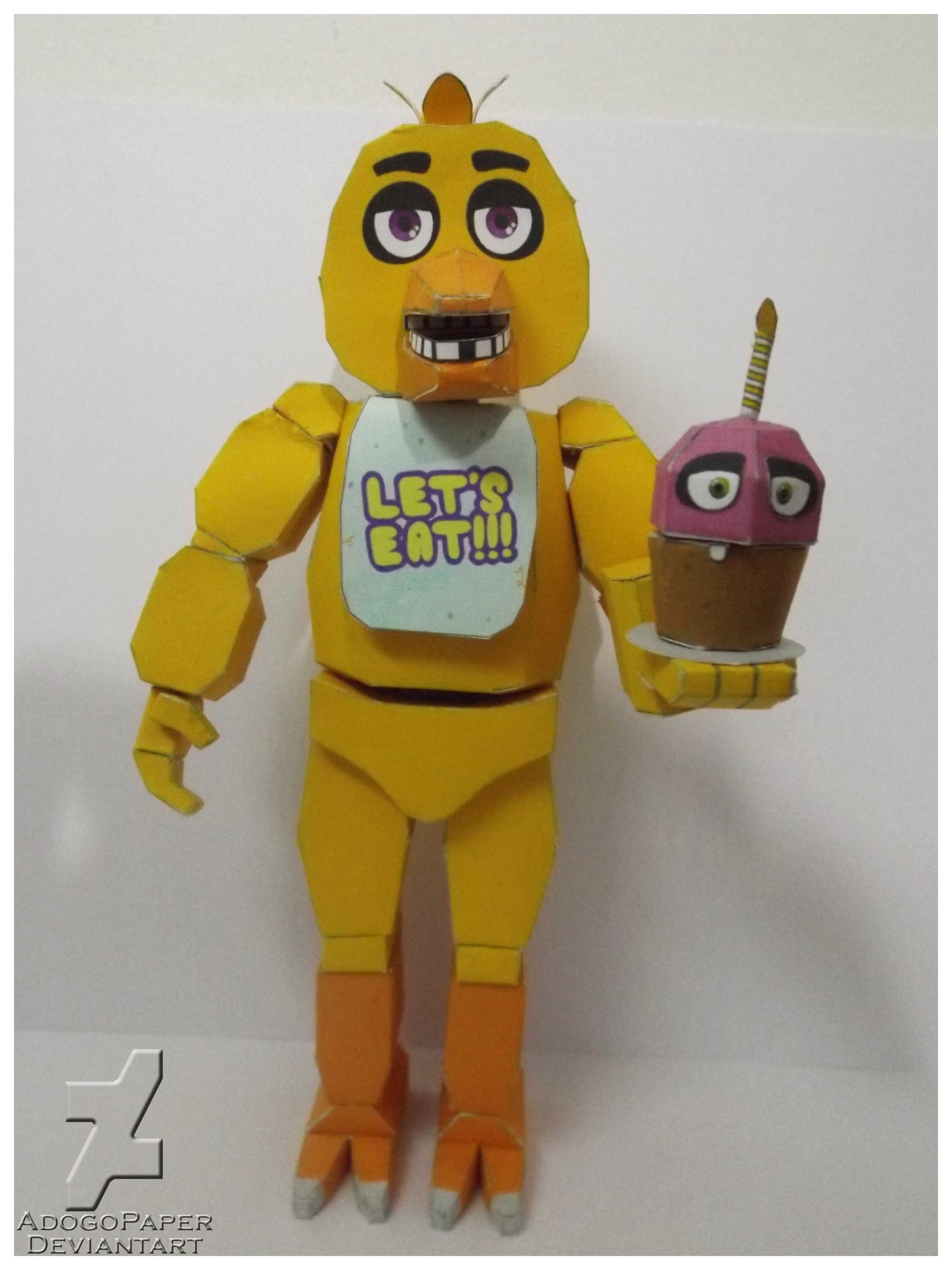 Five Nights At Freddy S Chica Papercraft By Adogopaper On