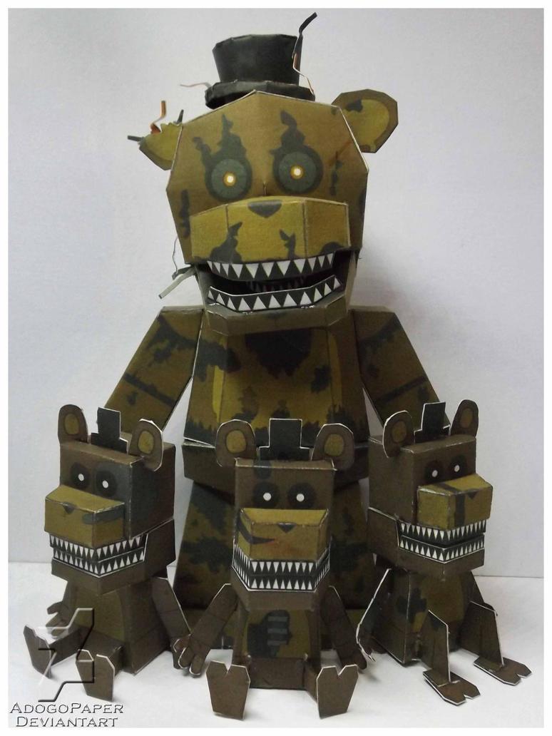 FNAF 4 Nightmare Freddy Papercraft By Adogopaper On DeviantArt