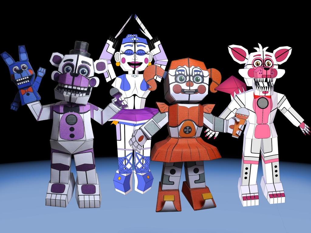 Fnaf Sister Location Papercrafts Wip By Adogopaper On