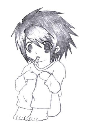 Death Note  Chibi Light  Sticker  Pinterest  Death