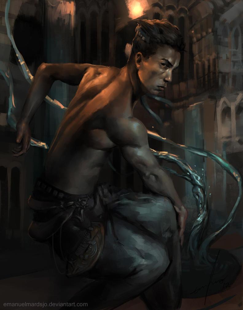 Rajastian Water Worker by EmanuelMardsjo
