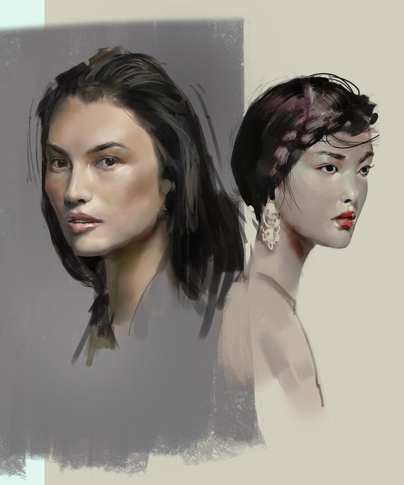 Portrait studies by EmanuelMardsjo