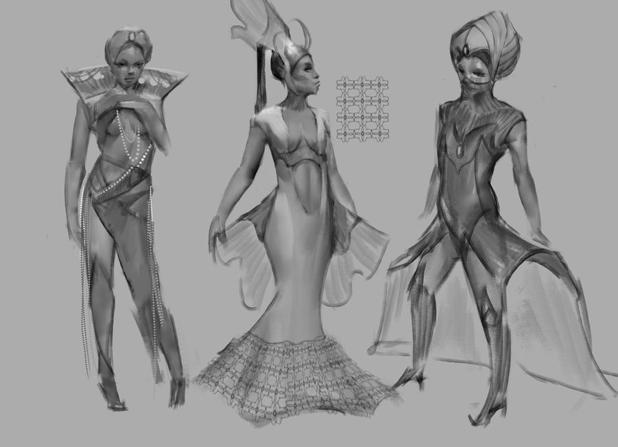 Water Sheikess Concept Sketches by EmanuelMardsjo