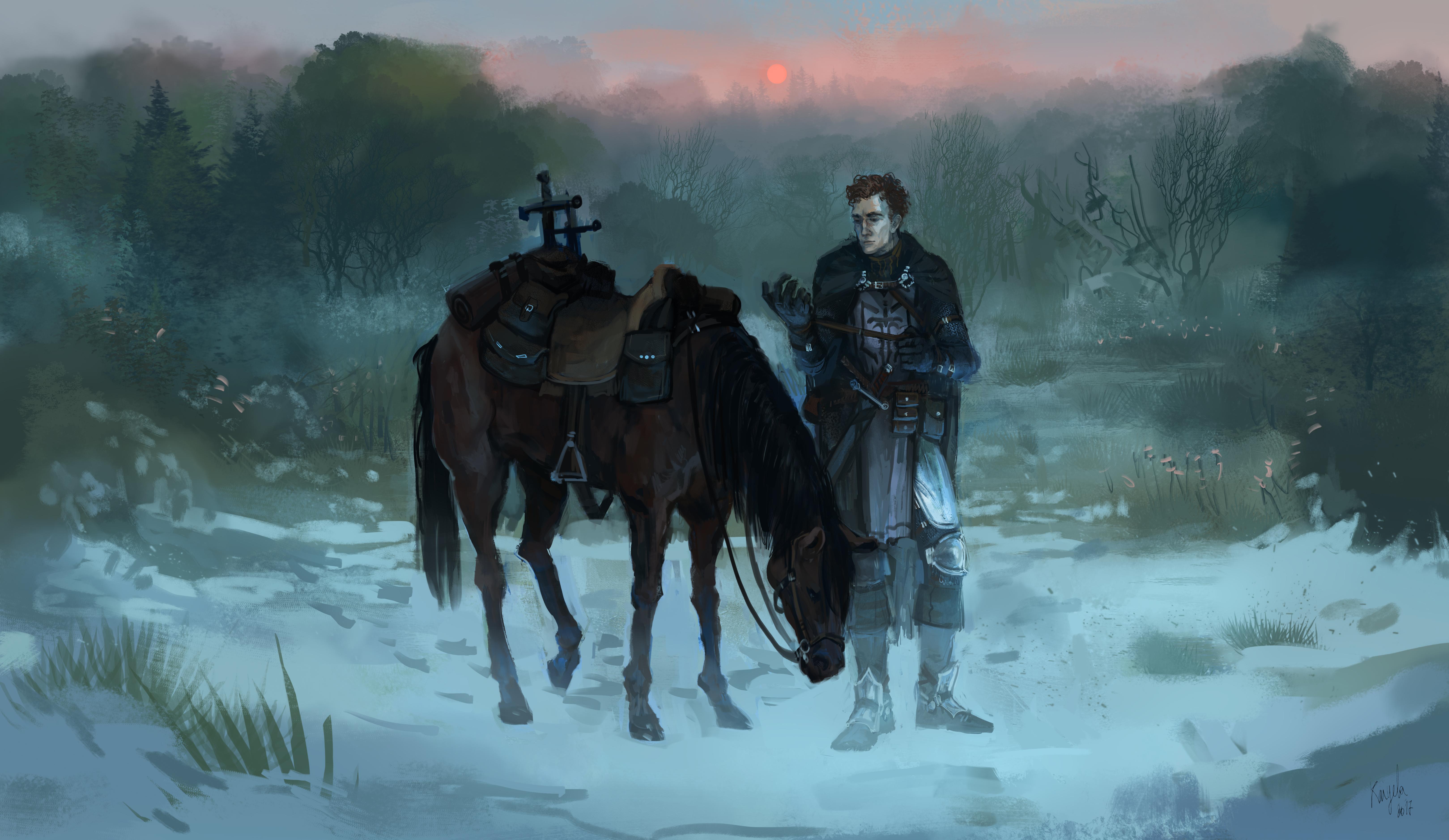 Edvann Rooke with Horse by kaiyela