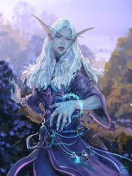 Night Elf Mage by kaiyela