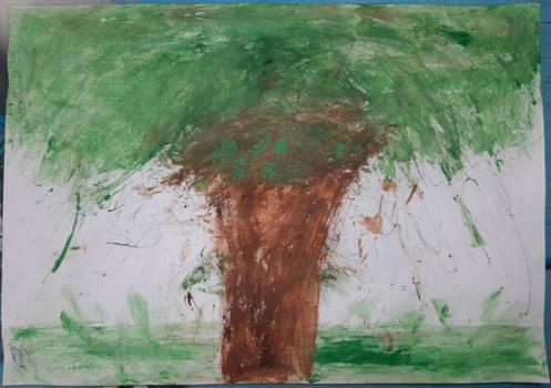 300 Tree v2 (Brushless Painting, Seventh IRL Art)