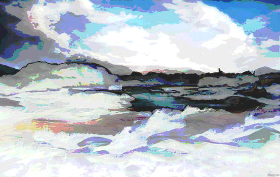 342 Abstract Winter Landscape