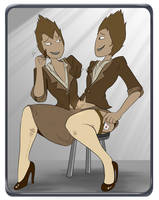Off-Colour Cabaret: Rutile Twins by SusieBeeca