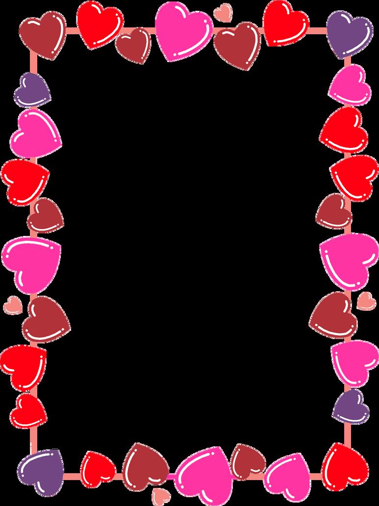 Hearts Frame/Boarder png by LeiaAlisonLavigne on DeviantArt