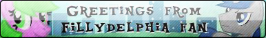 Greetings From Fillydelphia Fan Button by SgtGerim