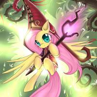 Fluttershy, the Fae Sorceress by CyanAeolin