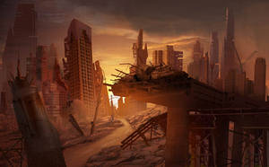 Abandoned City, Matte Painting