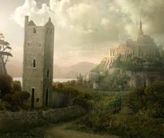 Castle Walls by MarcoBucci