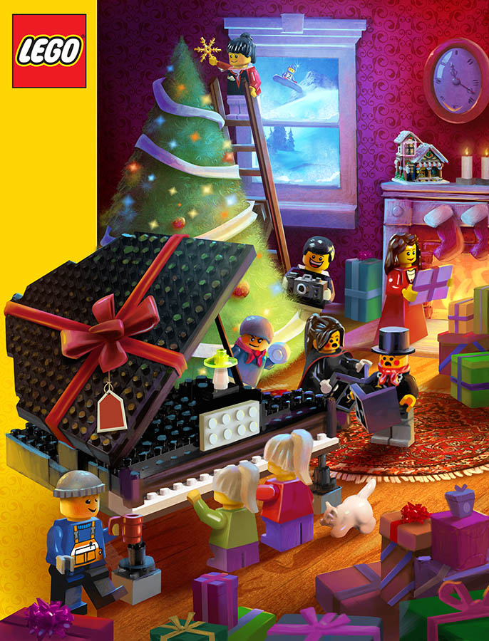 LEGO Christmas Cover by MarcoBucci
