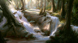 Forest Sketch by MarcoBucci