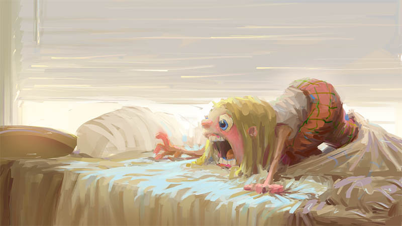 Bedsheet Monster by MarcoBucci