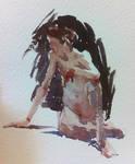 Figure Sketch in Watercolour