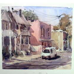 Watercolour Street Sketch