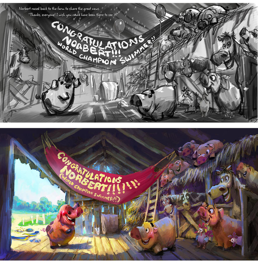 Picture Book Rough and Final by MarcoBucci