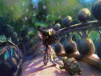 Turtles Need Walks Too by MarcoBucci
