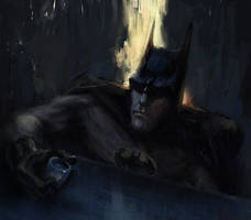 Mournful Batman by MarcoBucci