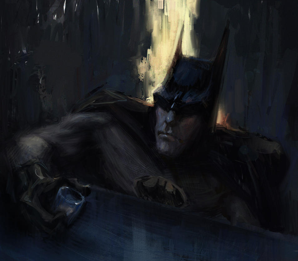 Mournful Batman by MarcoBucci