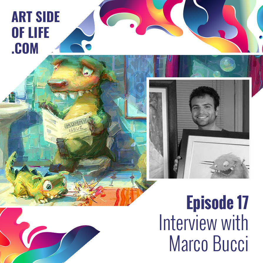 Interview with Art Side Of Life podcast! by MarcoBucci