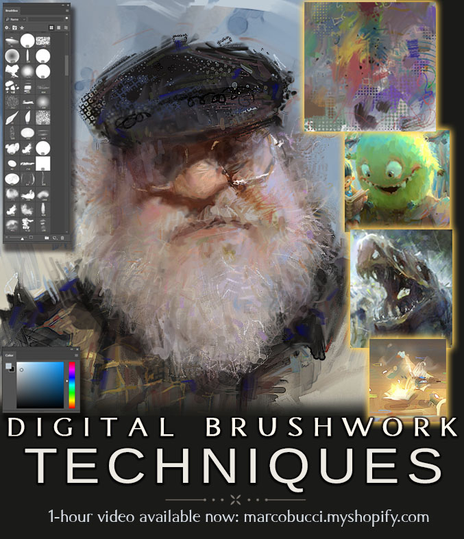 Digital Brushwork Lesson by MarcoBucci