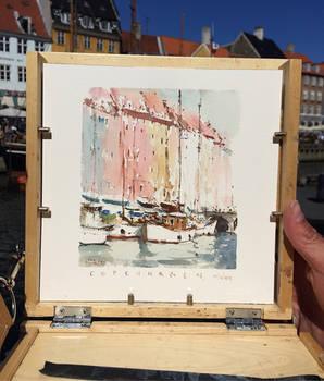 Copenhagen Watercolour sketch
