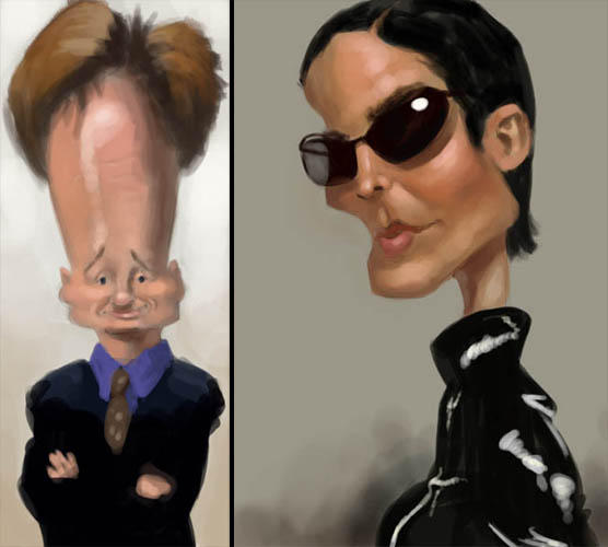 Caricature Speedpaintings 1 by MarcoBucci