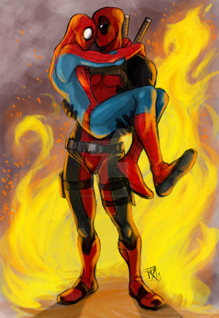 SPIDEYPOOL commission gift by Slashpalooza
