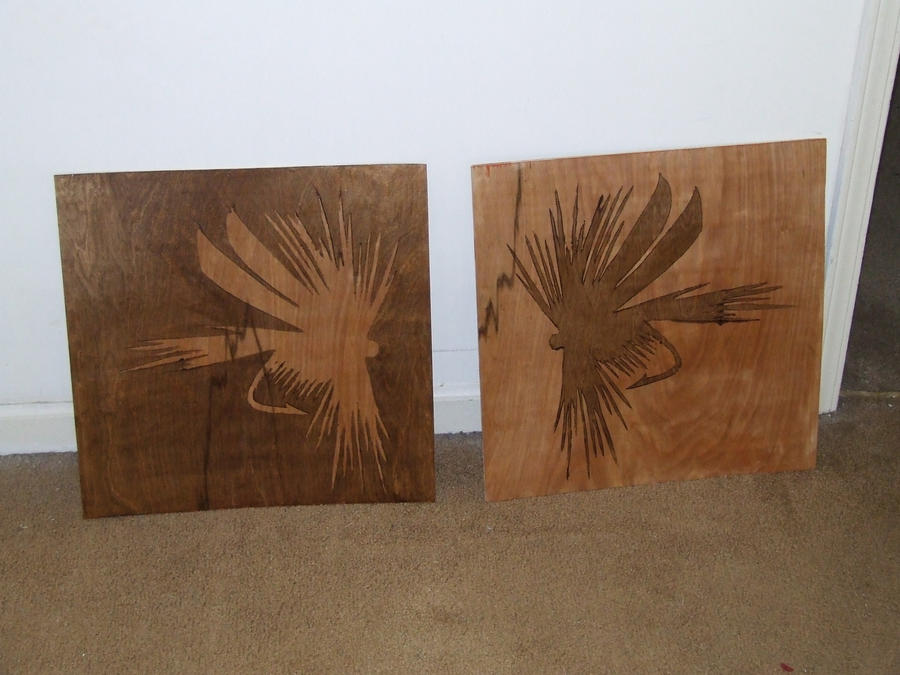 Dry fly wood stain stencil by poeticoddity on deviantart - Painting with stencils on wood ...