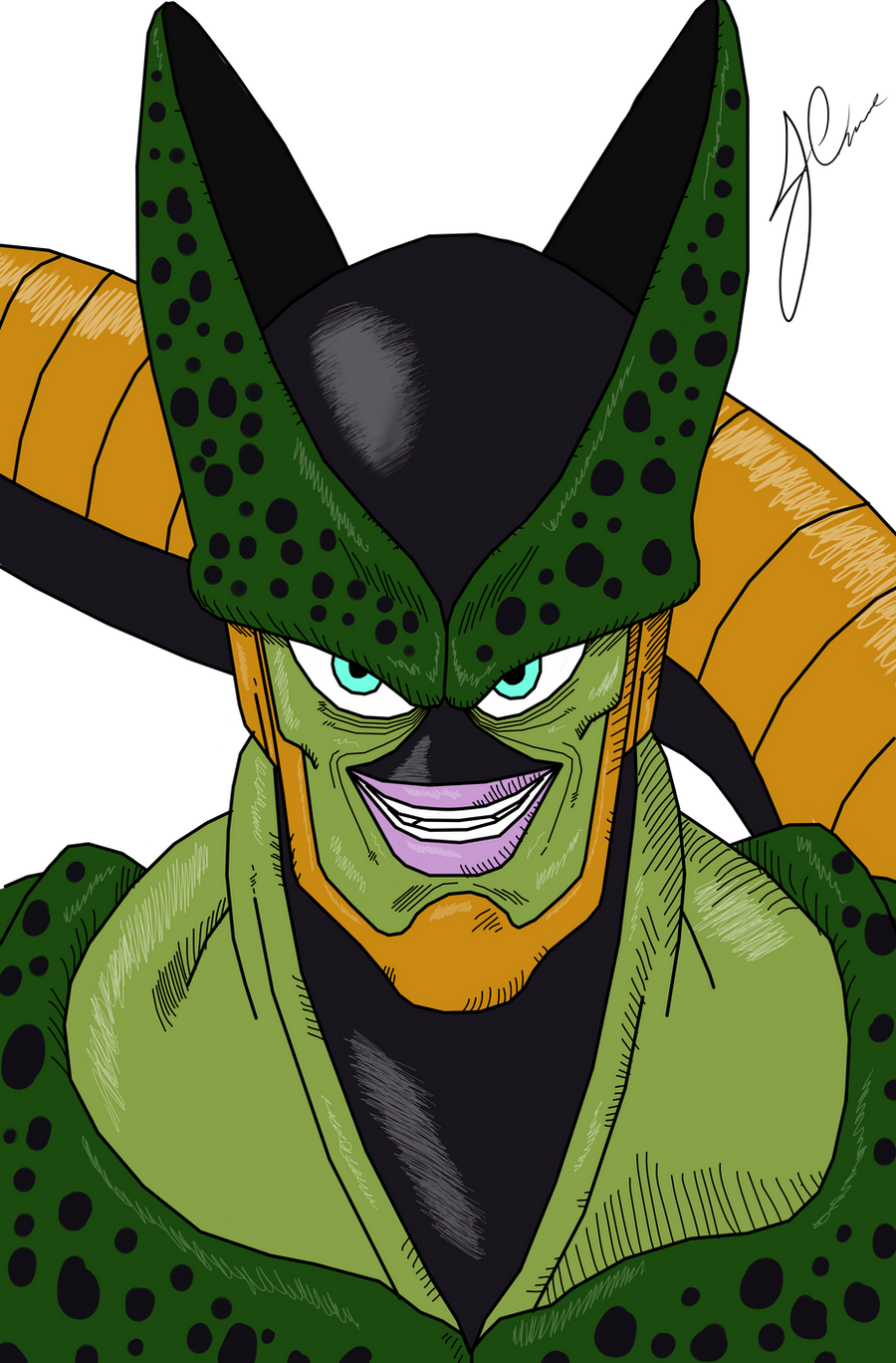 Cell 2nd form by The-Bomb-Dot-Com on DeviantArt