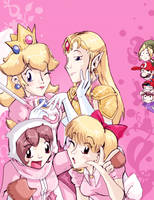 Nintendo Girls Love Pink by TamarinFrog