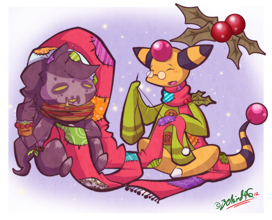 PKMNC SS - Christmas Crafting by TamarinFrog
