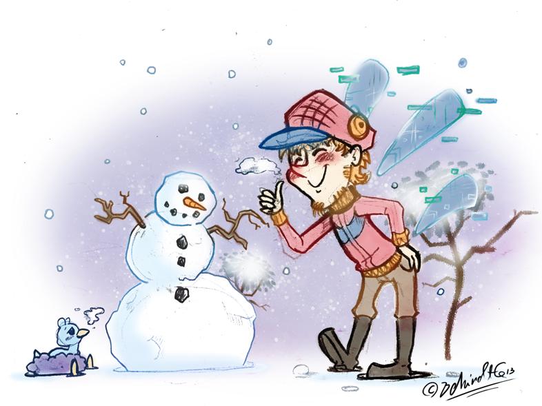 HPM - Snowman by TamarinFrog