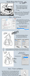 Simple Manga Style Tutorial by TamarinFrog