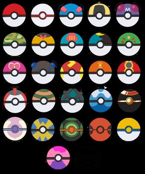 All Poke Balls - Free Icons by TamarinFrog