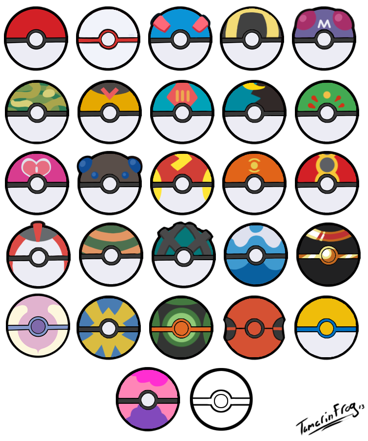 All Poke Balls Free Icons By Tamarinfrog On Deviantart