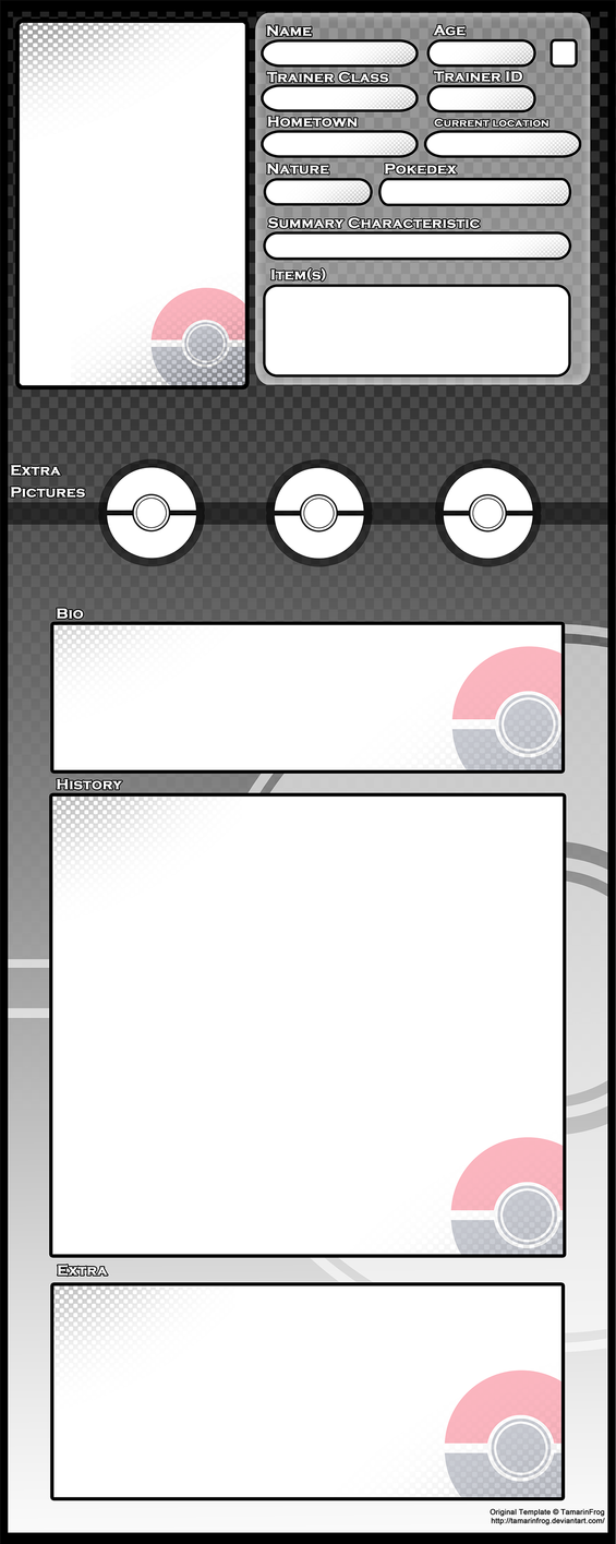 Trainer Bio - Template by TamarinFrog