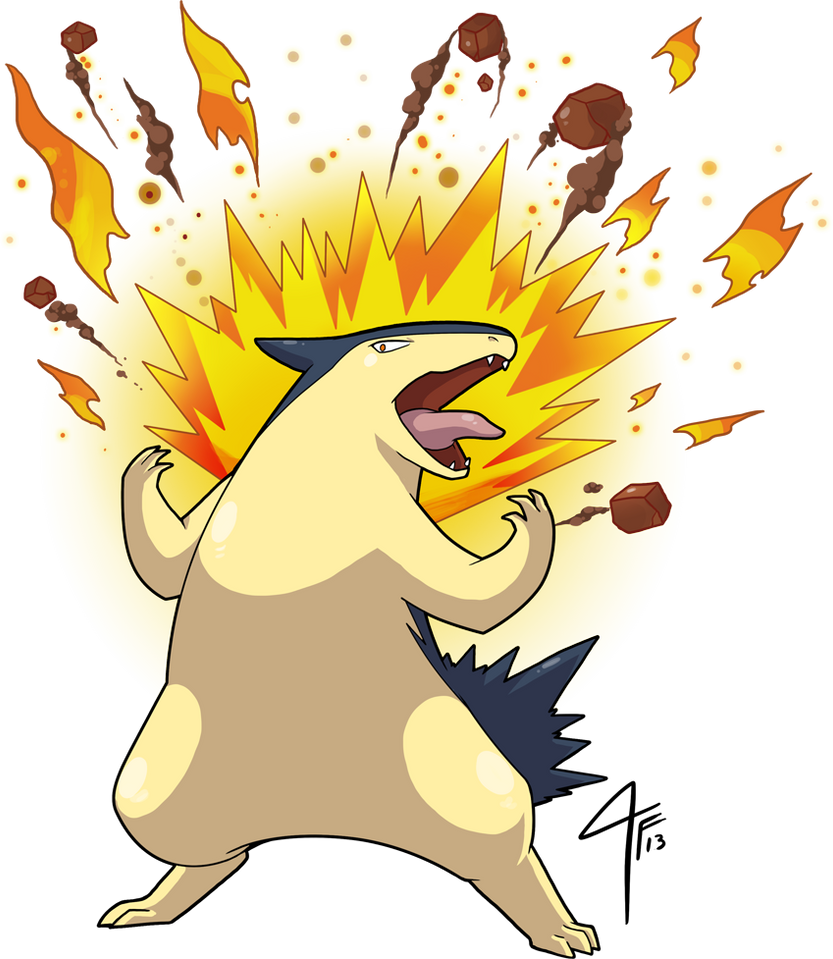 Typhlosion used Eruption by TamarinFrog