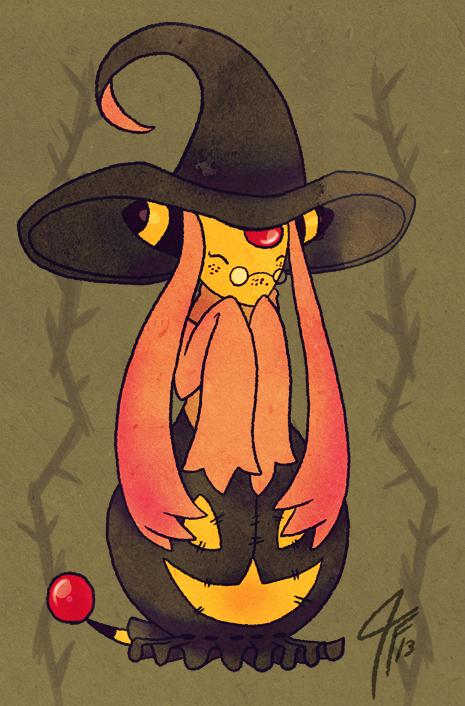 PKMNC - Pumpkin Witch by TamarinFrog